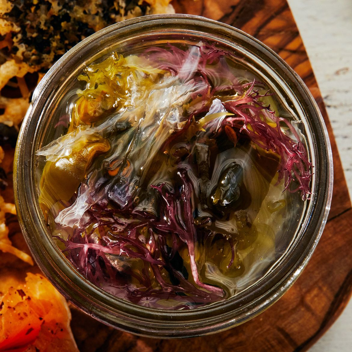 Underwater under discovered_mixed seaweed pickles