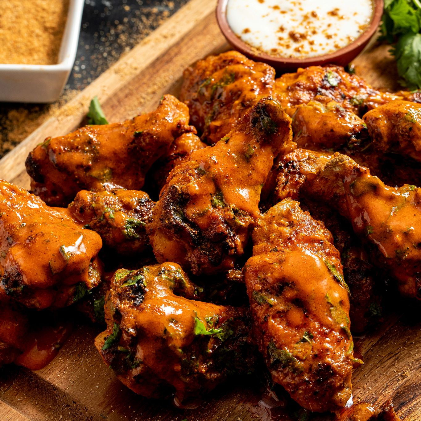 Indian Spiced Grilled Chicken Wings