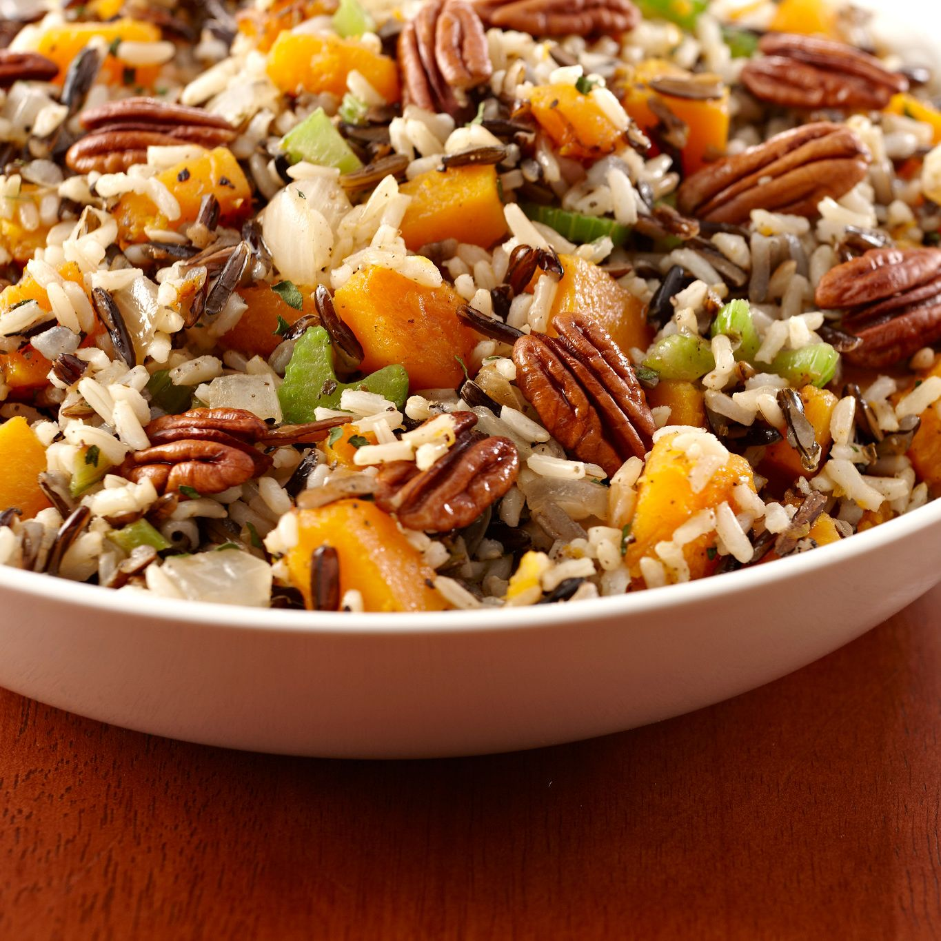 Herbed Wild Rice and Butternut Squash Stuffing