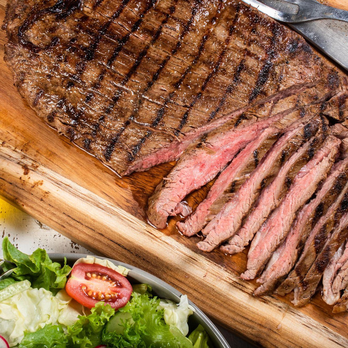 Beer & Mustard Marinated Flank Steak