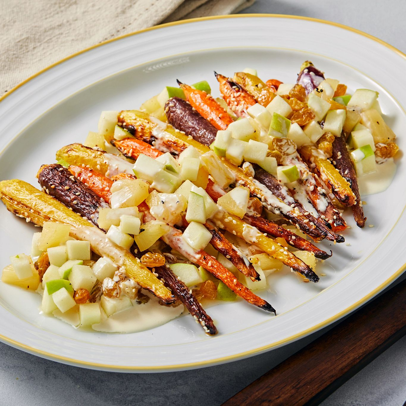 Carla Hall's Warm Carrot Salad with Creamy Lemon Dressing