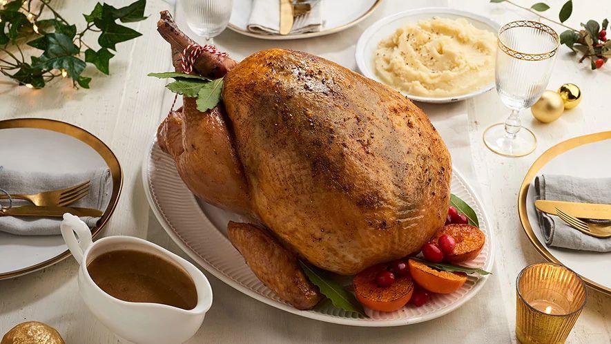 Recipe Roast Turkey with Spiced Butter Rub & Cider Gravy