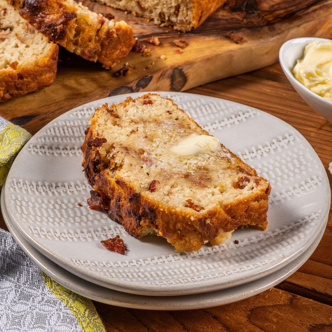 Bacon Honey Mustard Beer Bread