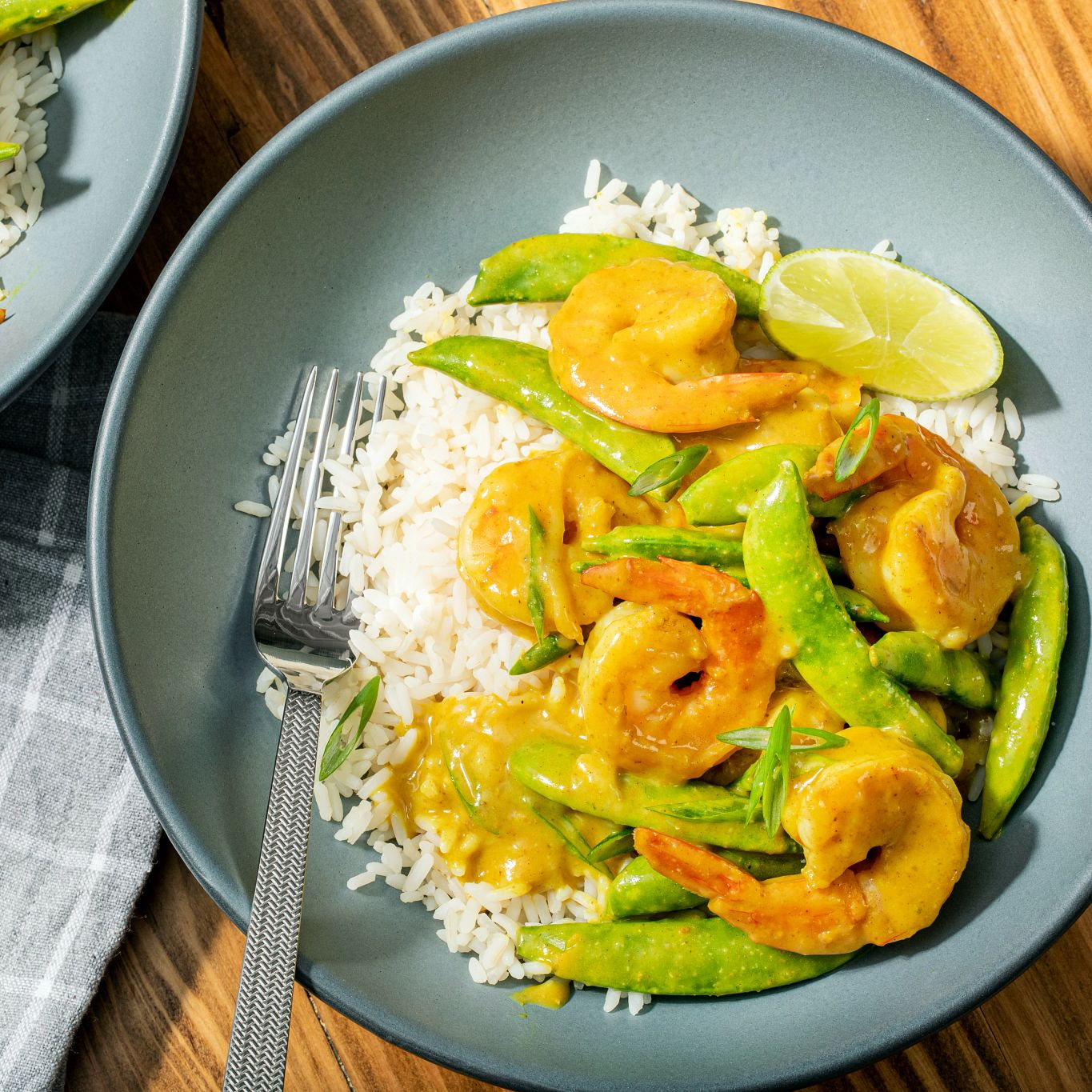 Curried Shrimp with Sugar Snap Peas