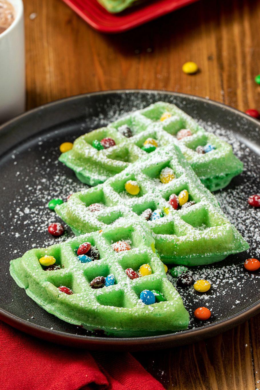 Christmas Tree Waffles