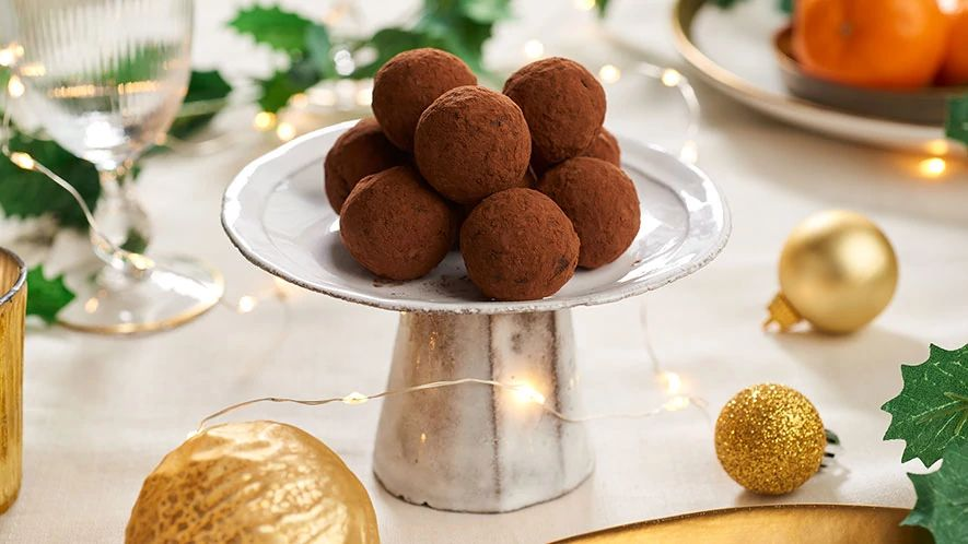 Truffes au chocolat et au gingembre